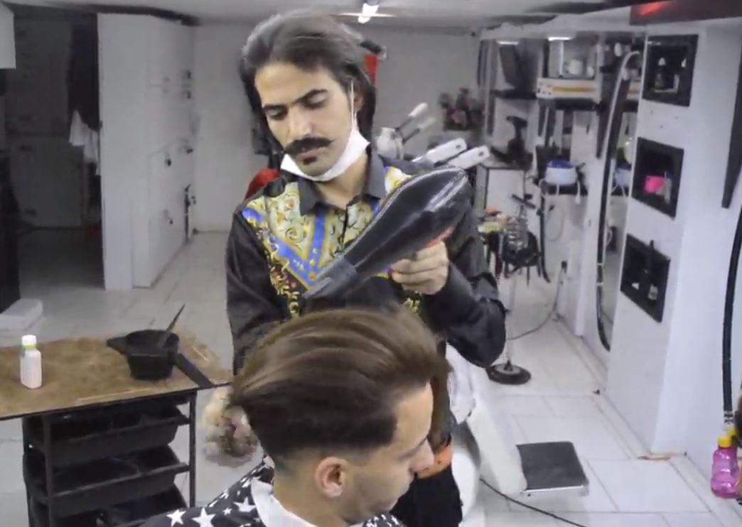 مراحل کراتینه کردن مو با سبک استاد بیک12