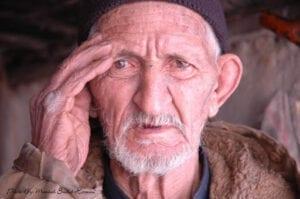 چهره مرد پیر