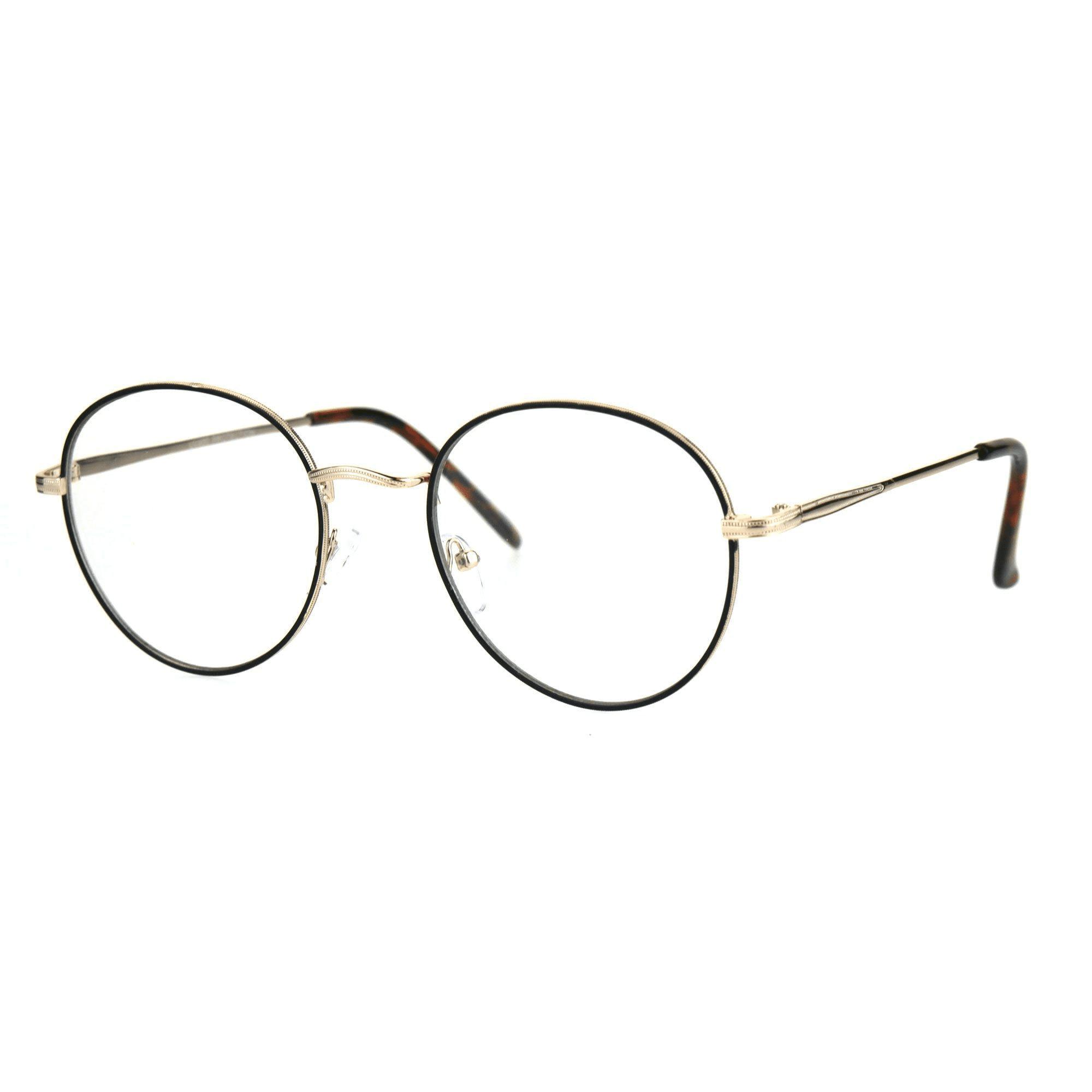 عینک با فریم بیضی