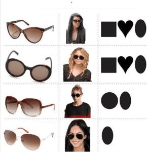 عینک برای صورت های مربع