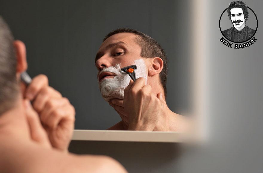 آموزش اصلاح صورت با تیغ