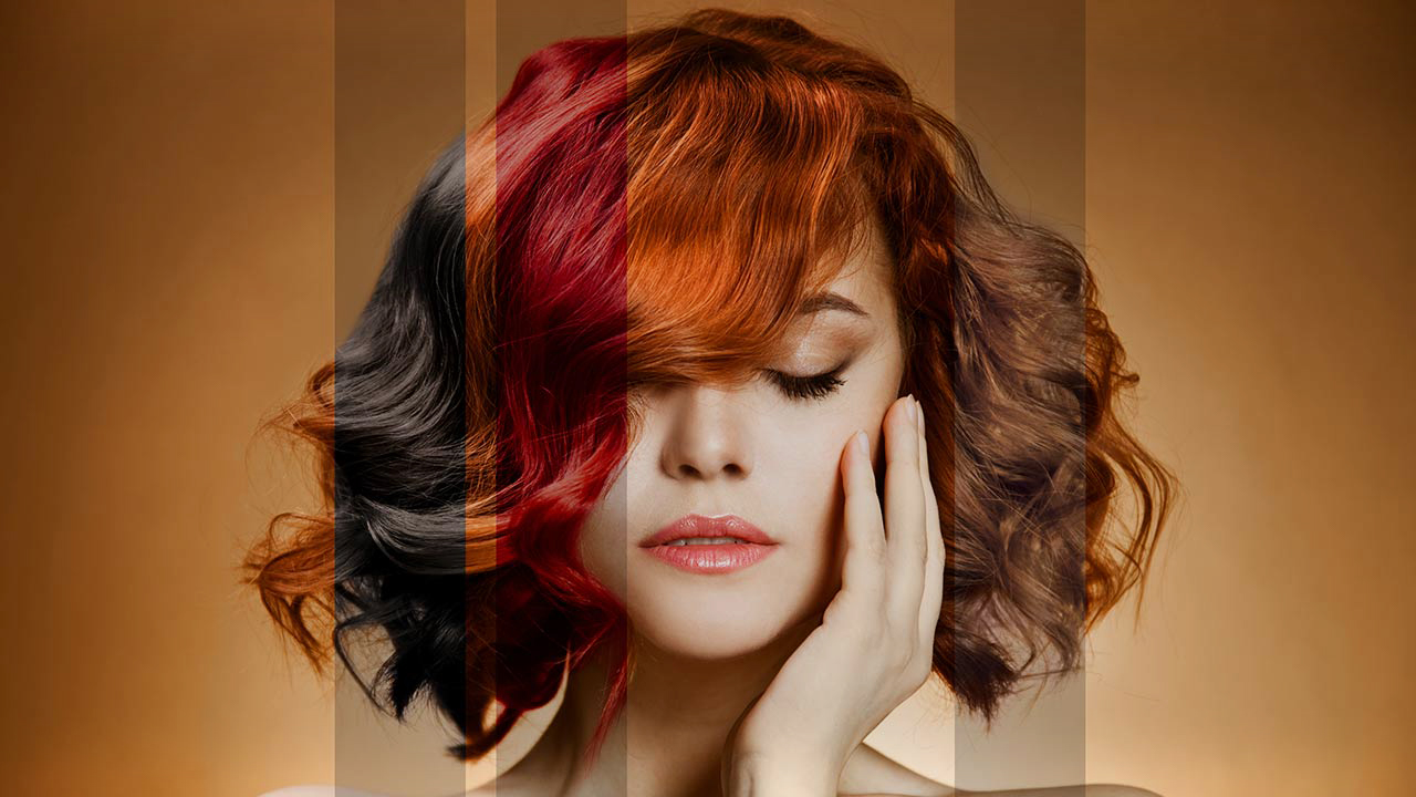 رنگ مو نیمه دائم
