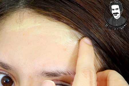 پاک کردن رنگ از روی پوست (امولسیون)