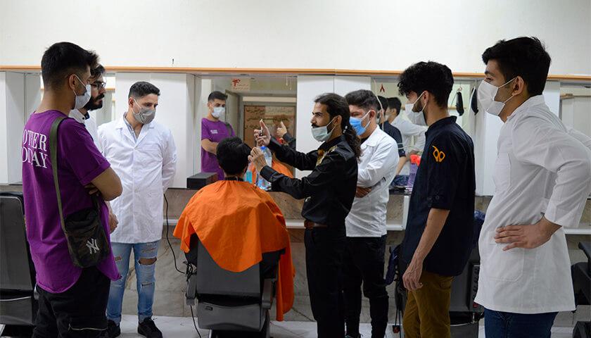 آموزش آرایشگری مزدانه درجه 1