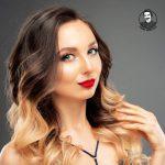 تکنیک رنگ موی امبره برای عروس