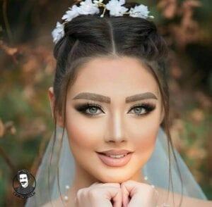 عکس مدل شنیون برای صورت گرد عروس