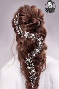 عکس مدل شنیون موهای باز و بسته برای عروس