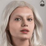 مدل موی روشن با ابرو روشن2021