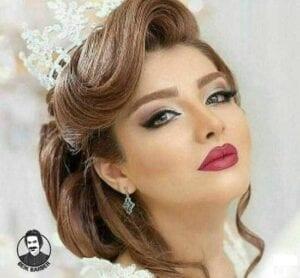عکس مدل شنیون برای صورت گرد عروس با تاج