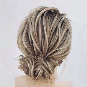 عکس مدل شنیون بسته پایین برای موهای کوتاه