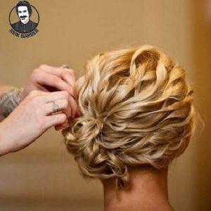 عکس مدل شنیون موی کوتاه فر جمع