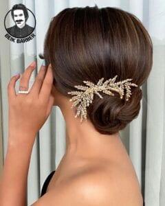 عکس مدل شنیون موی کوتاه برای عروسی