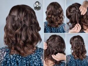 عکس مدل مو ساده باز برای موهای کوتاه