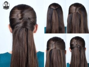 مدل مو ساده باز برای مهمانی