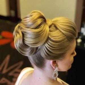 عکس مدل شنیون بسته بالا برای موهای بلند
