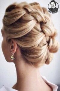 عکس مدل شنیون برای موهای کوتاه با بافت و دخترانه جدید