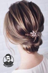 عکس مدل شنیون موی کوتاه پایین دخترانه